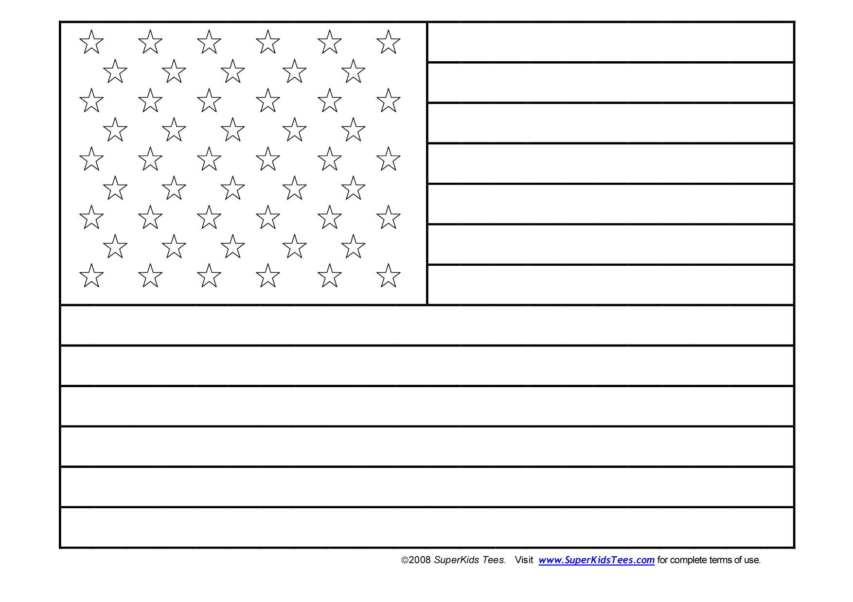United States Of America Flag Coloring Page Flag Coloring Pages