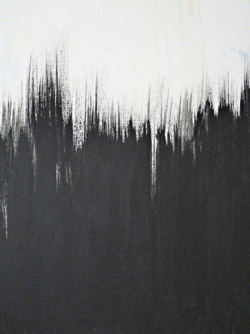 black white painting