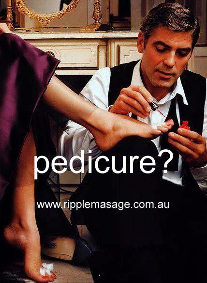 Pedicure?  www.ripplemassage.com.au  #pedicure #pedicures #massage #dayspa #reflexology #ripplemassage #GeorgeClooney