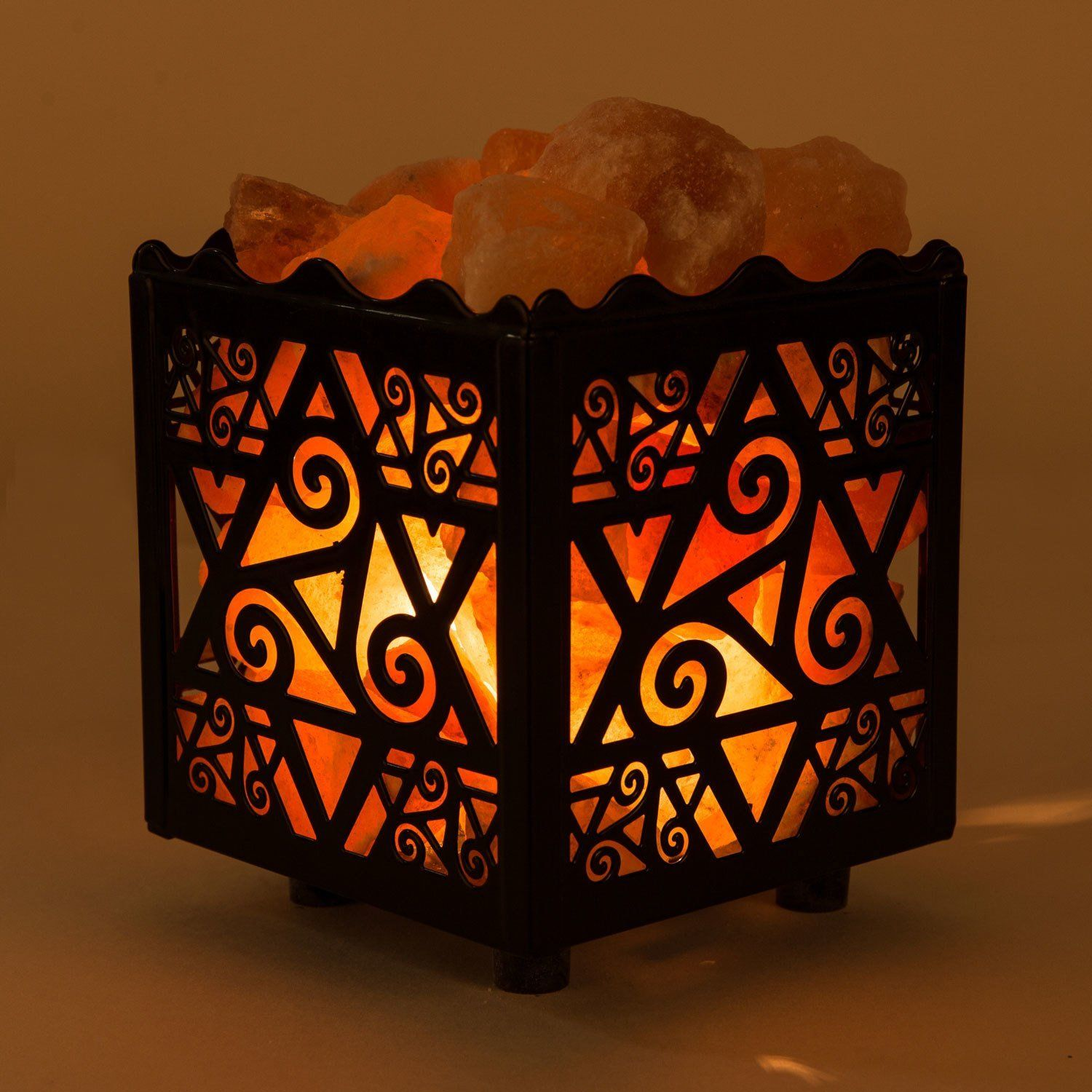 Crystal Decor Natural Himalayan Salt Lamp In Star Design Metal Basket With Dimmable Cord Natural Himalayan Salt Lamp Salt Lamp Pink Himalayan Salt Lamp