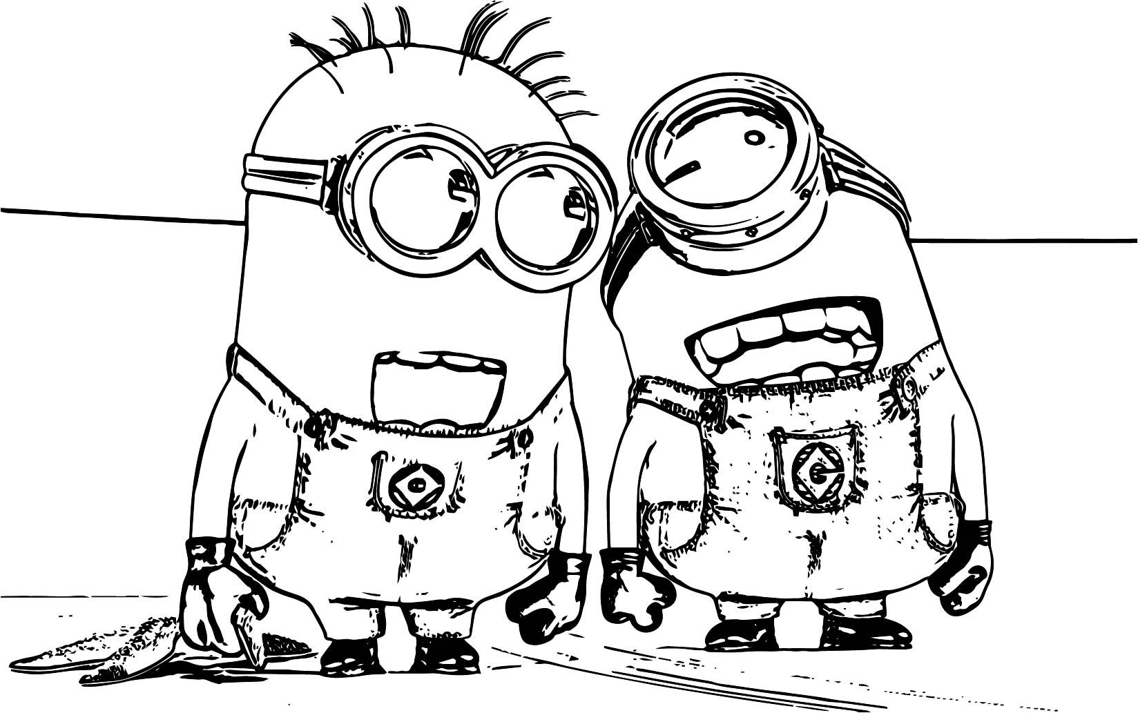Minions Laugh Coloring Page Wecoloringpage Coloring Pages