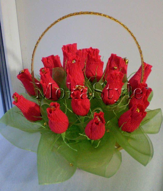 Сладкая композиция Бутоны роз Ярмарка Мастеров 58