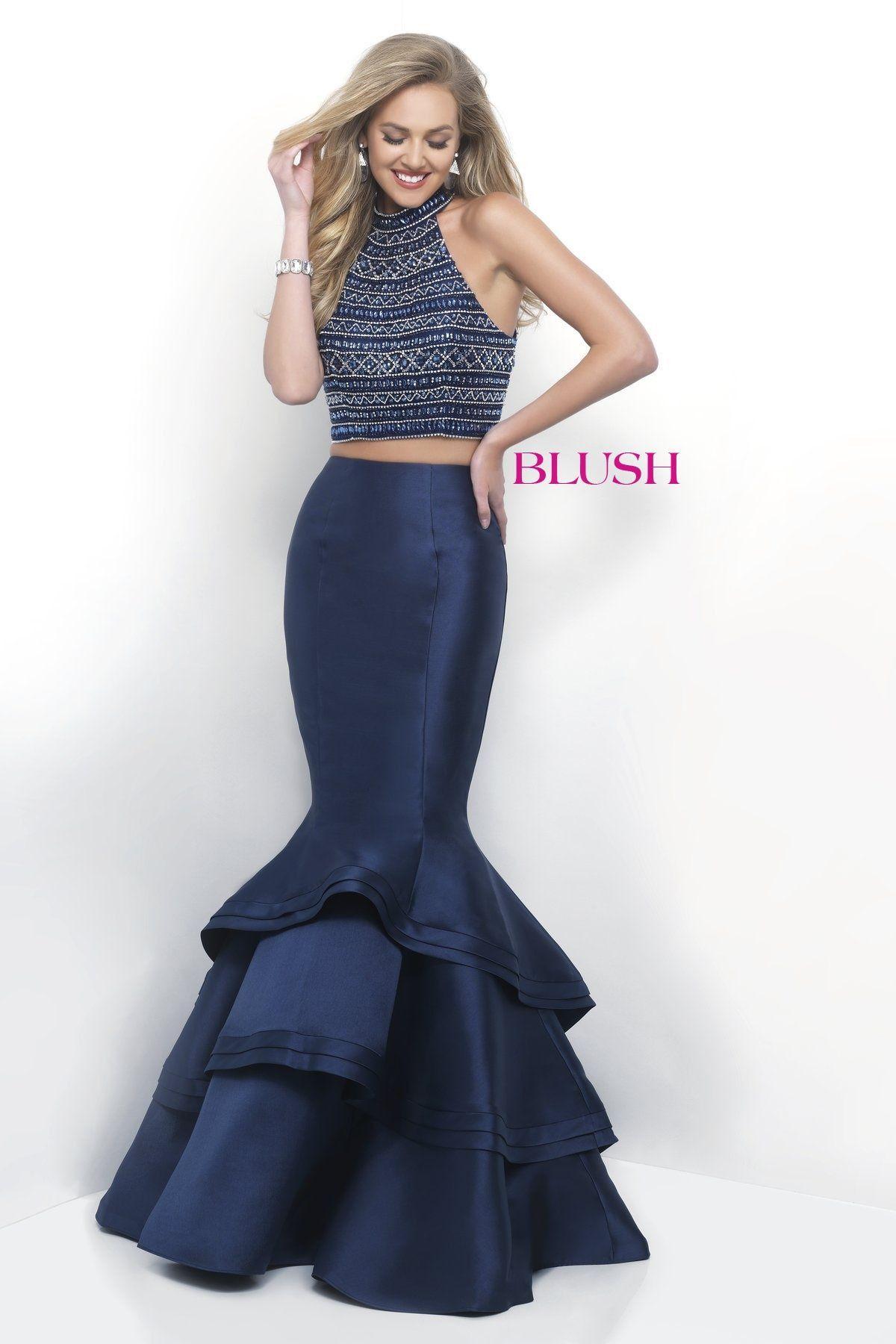 Blush prom 11254 prom dresses piece prom dress blush