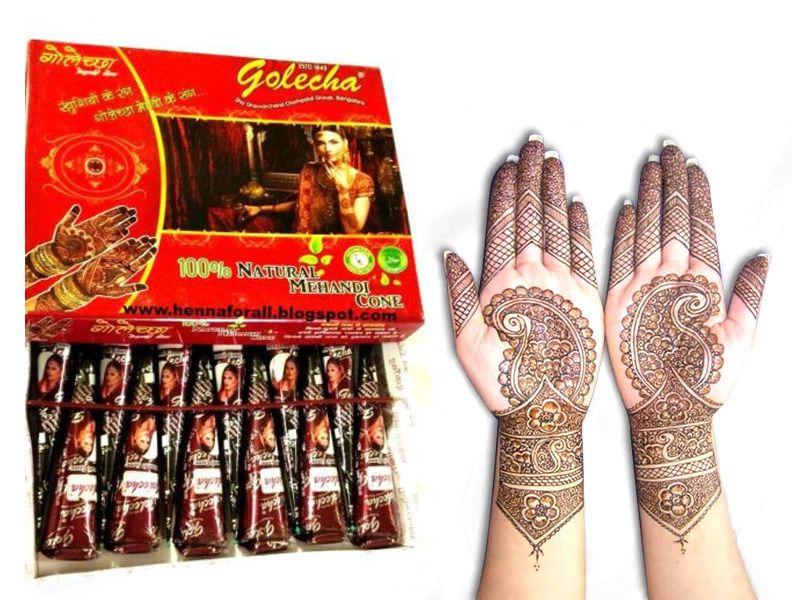 2f5a398520866 60 X Natural Herbal Mehndi Henna Cones Golecha Mehandi Temporary Tattoo  Body Art