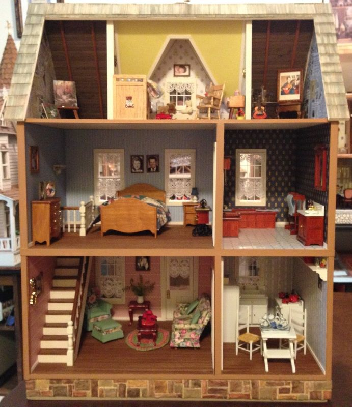 4 5//8/'/' tall Doll House wooden shutters 1 1//4/'/' wide