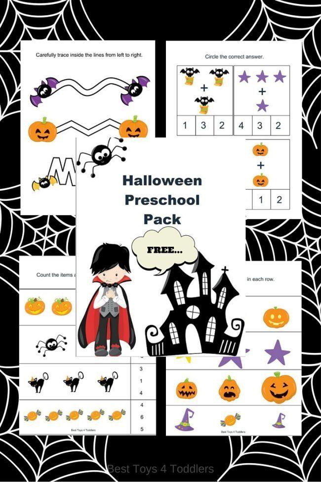 free halloween printable pack for preschoolers - Free Preschool Halloween Printables