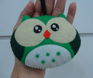 Christmas Ornaments / Cute Green Owl Ornaments - Holiday...