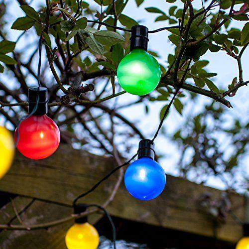Guirlande Lumineuse Guinguette Solaire avec 16 Boules LED