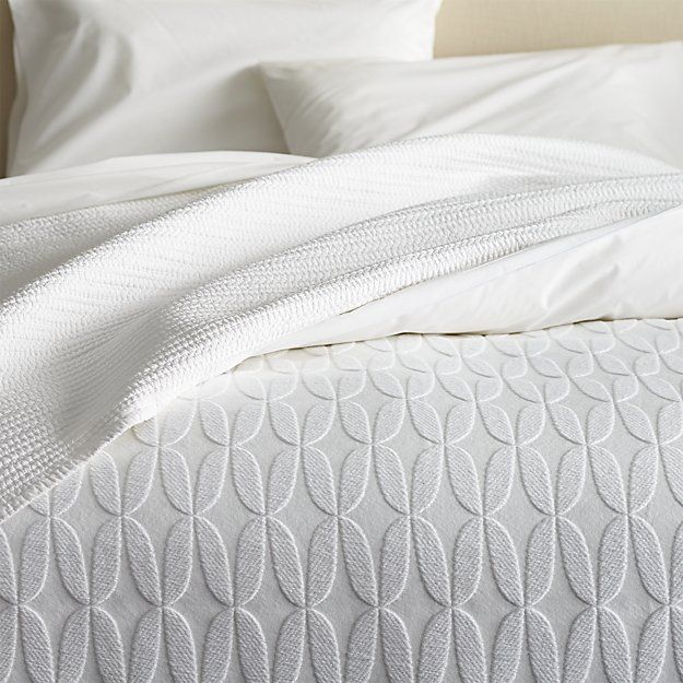 master coverlet- $149.00- jolie twin coverlet | crate and barrel