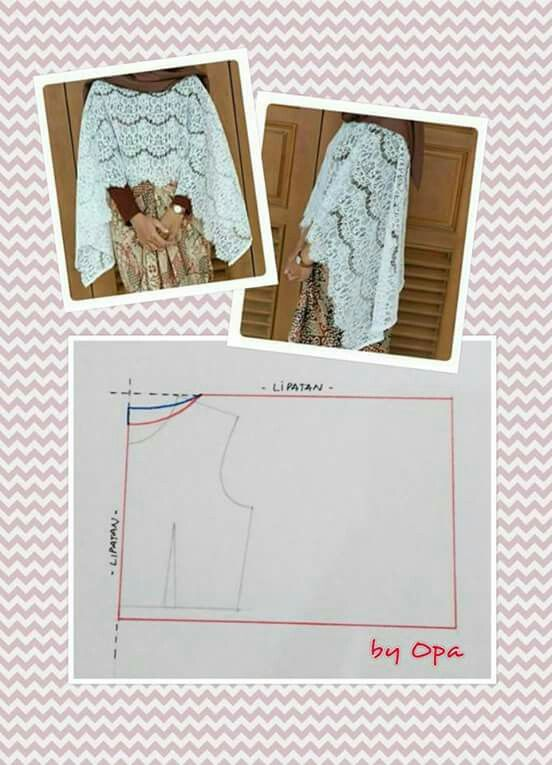 Lace outer | cape | Pinterest | Patrones, Costura y Molde