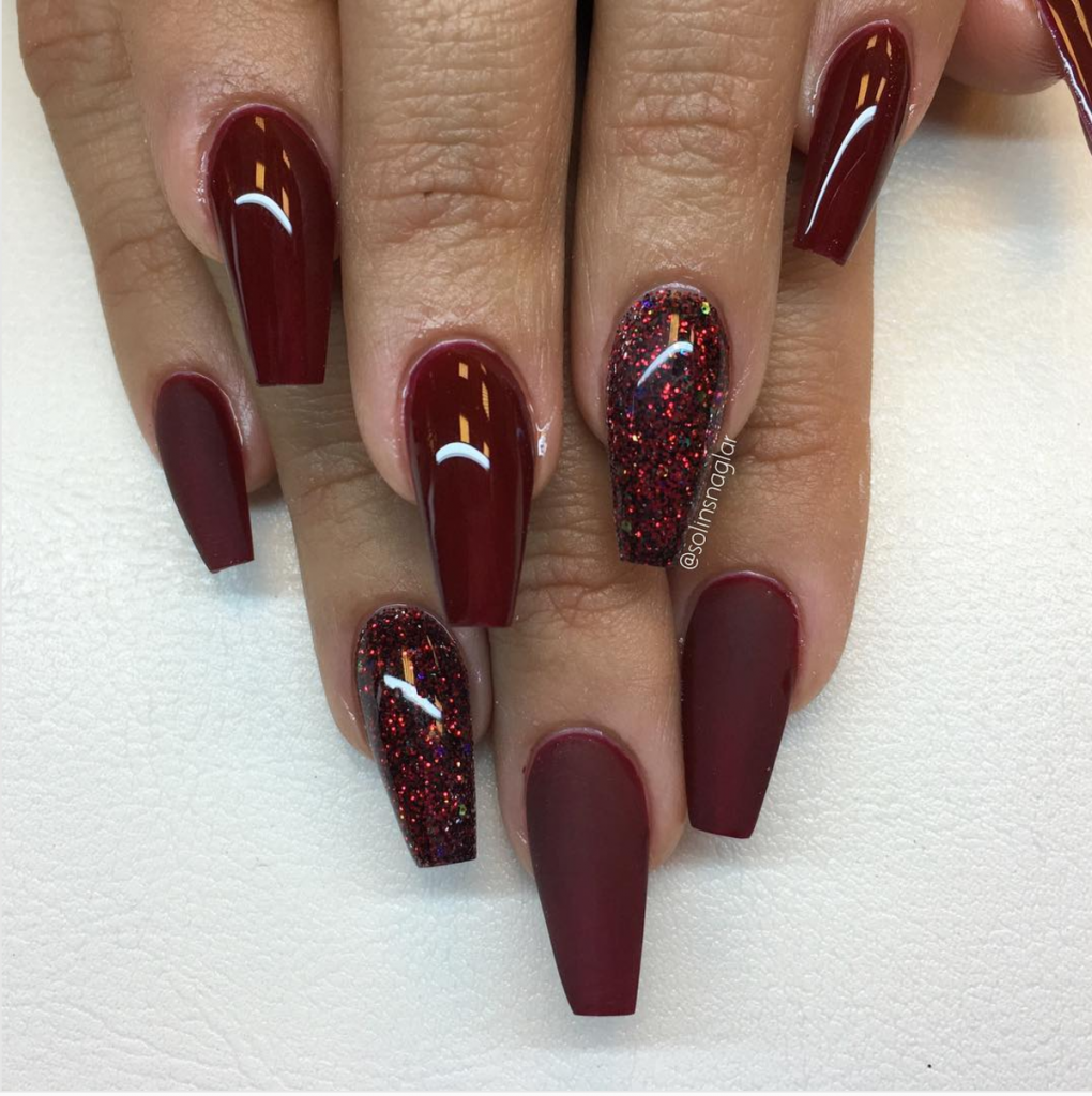 50 Gel Nails Designs That Are All Your Fingertips Need To Steal The Show Cute Diy Projects Maroon Nail Designs Gel Nail Designs Maroon Nails