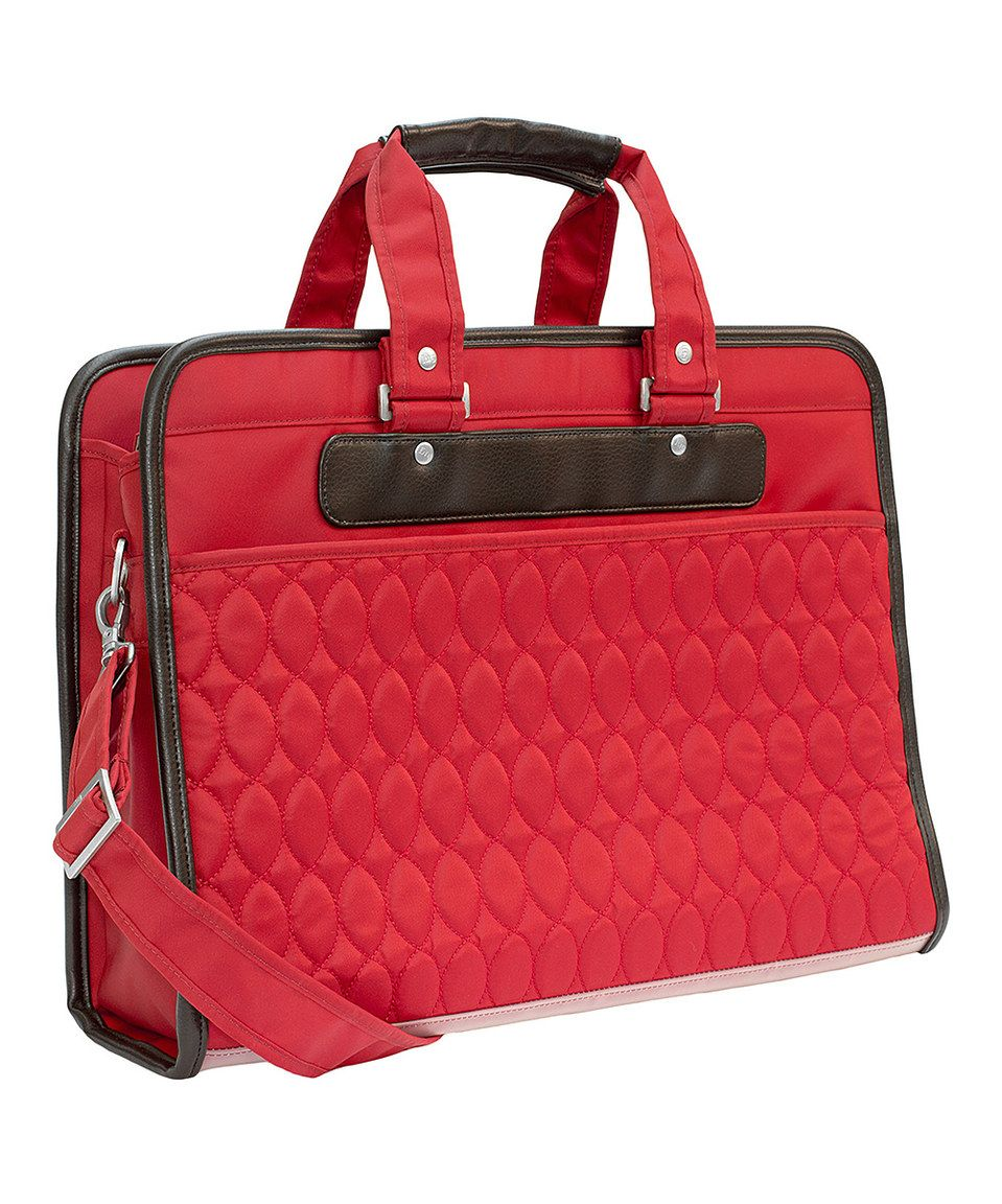 Loving this Poppy Red Chariot Work Tote on zulily!
