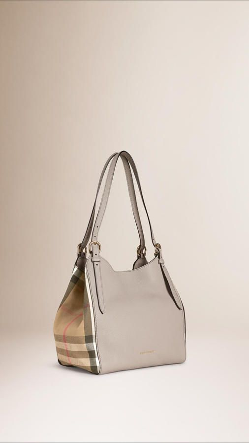 697f02dfaa9b Burberry The Small Canter In Leather And House Check - ShopStyle ...