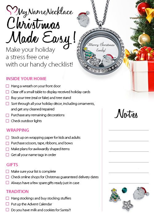 Your Very Own Handy Dandy Christmas Checklist Christmas - christmas preparation checklist