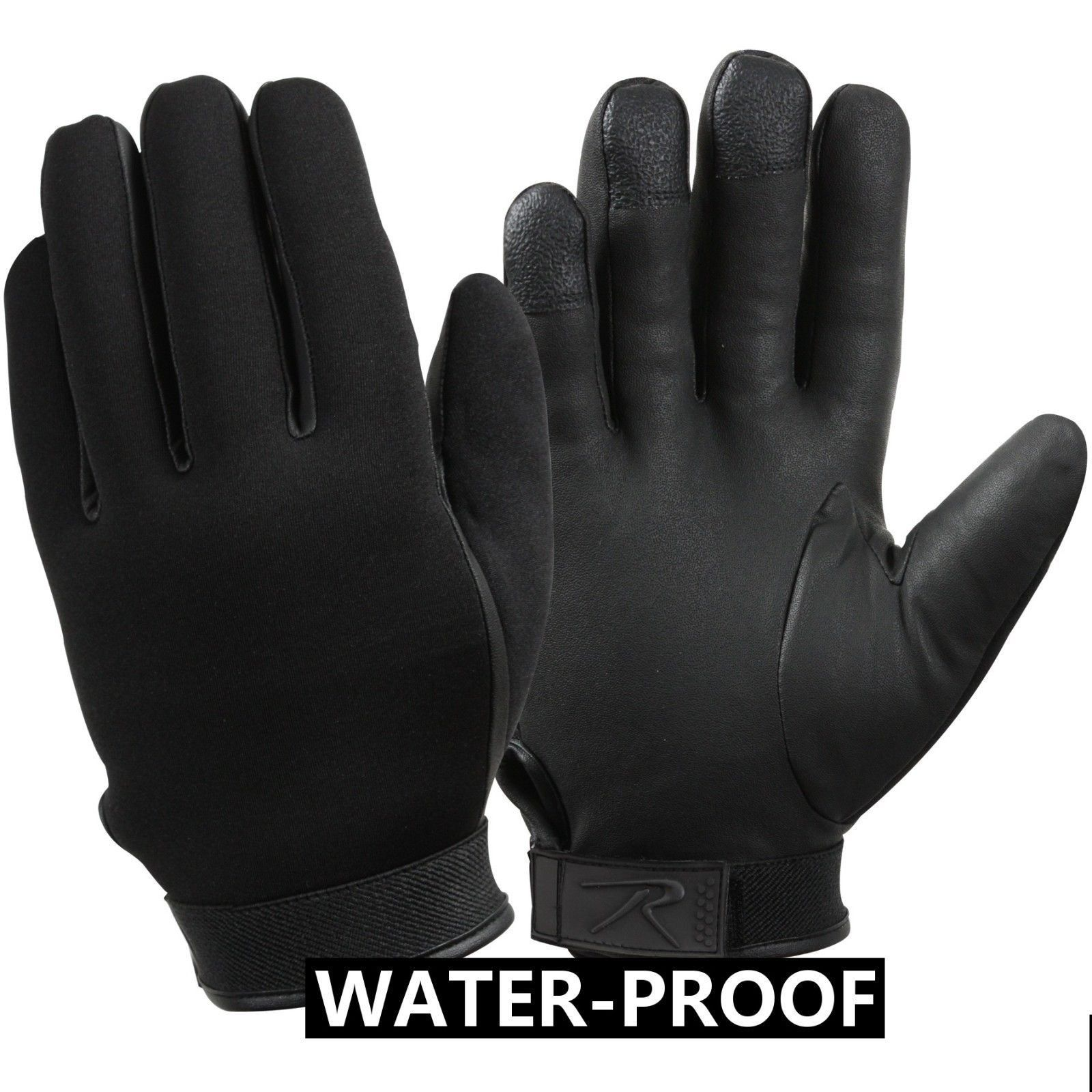 Black Biker//Cycling Stretch Gloves S-2XL Black Fingerless Neoprene Gloves