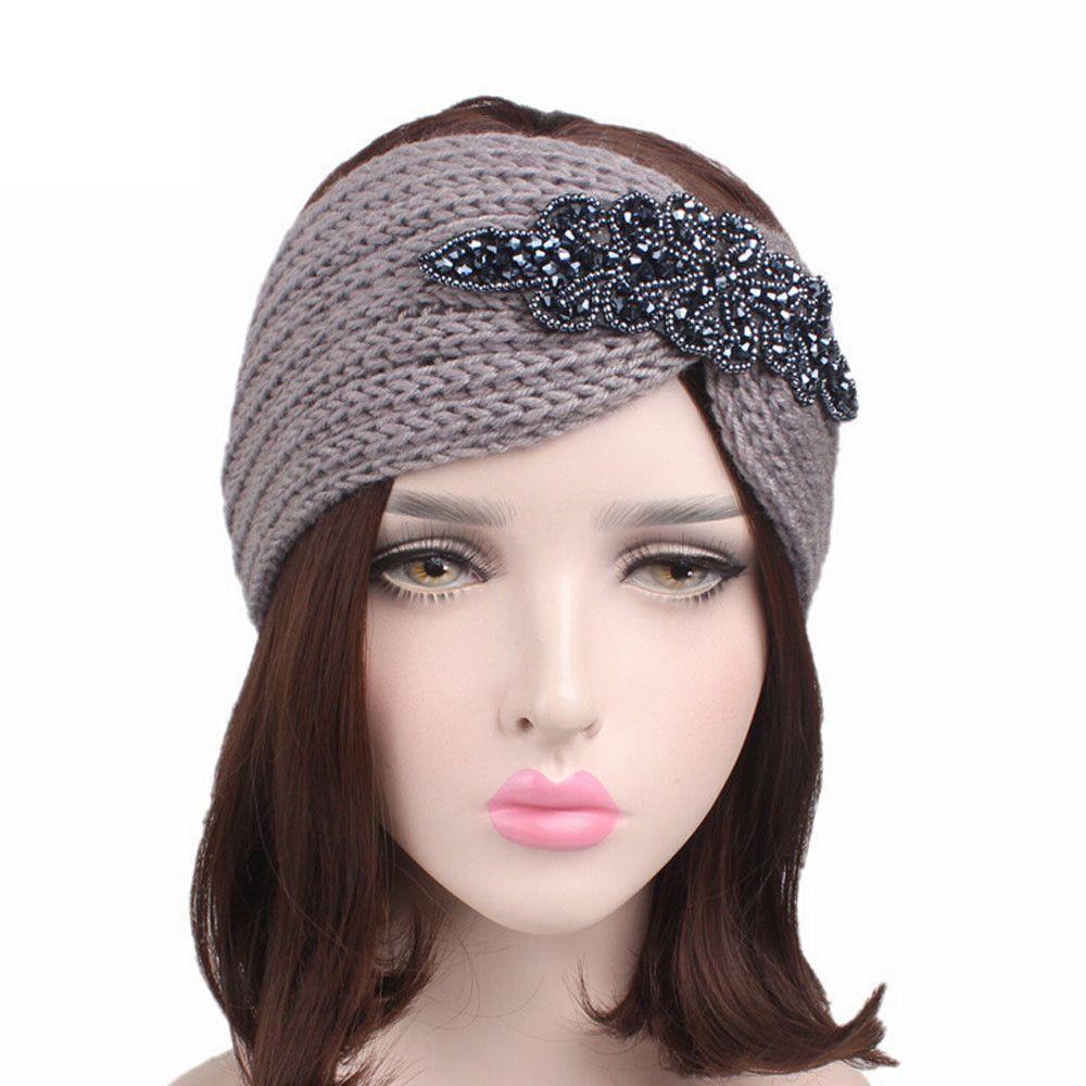 Autumn Winter Knit Headband Stretch turban headband warm headb