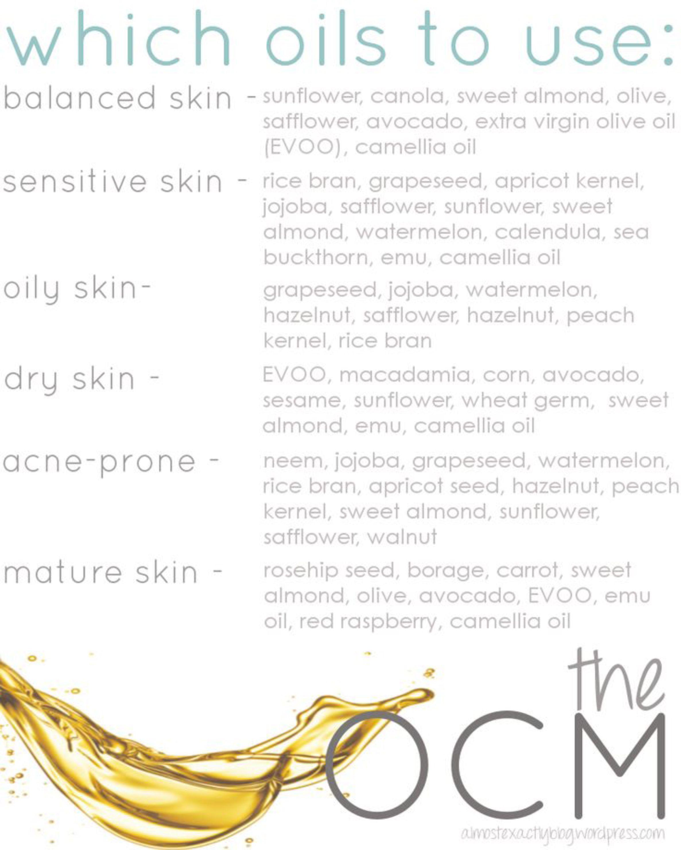 oils for skin type
