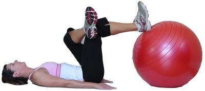 try these yoga poses using an exercise ball