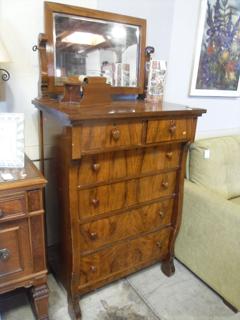 Best Empire Highboy Dresser W Mirror Check Out The Wood Grain 400 x 300