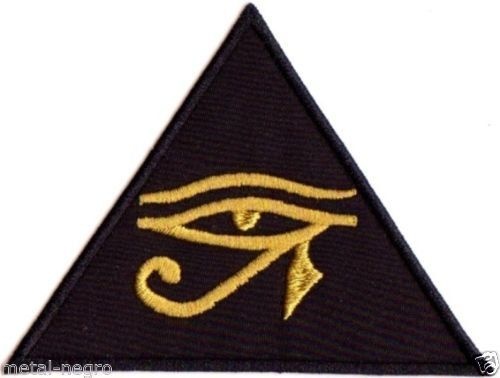 Eye Of Horus Embroidered Patch Occult Esoteric By Babalonmoon