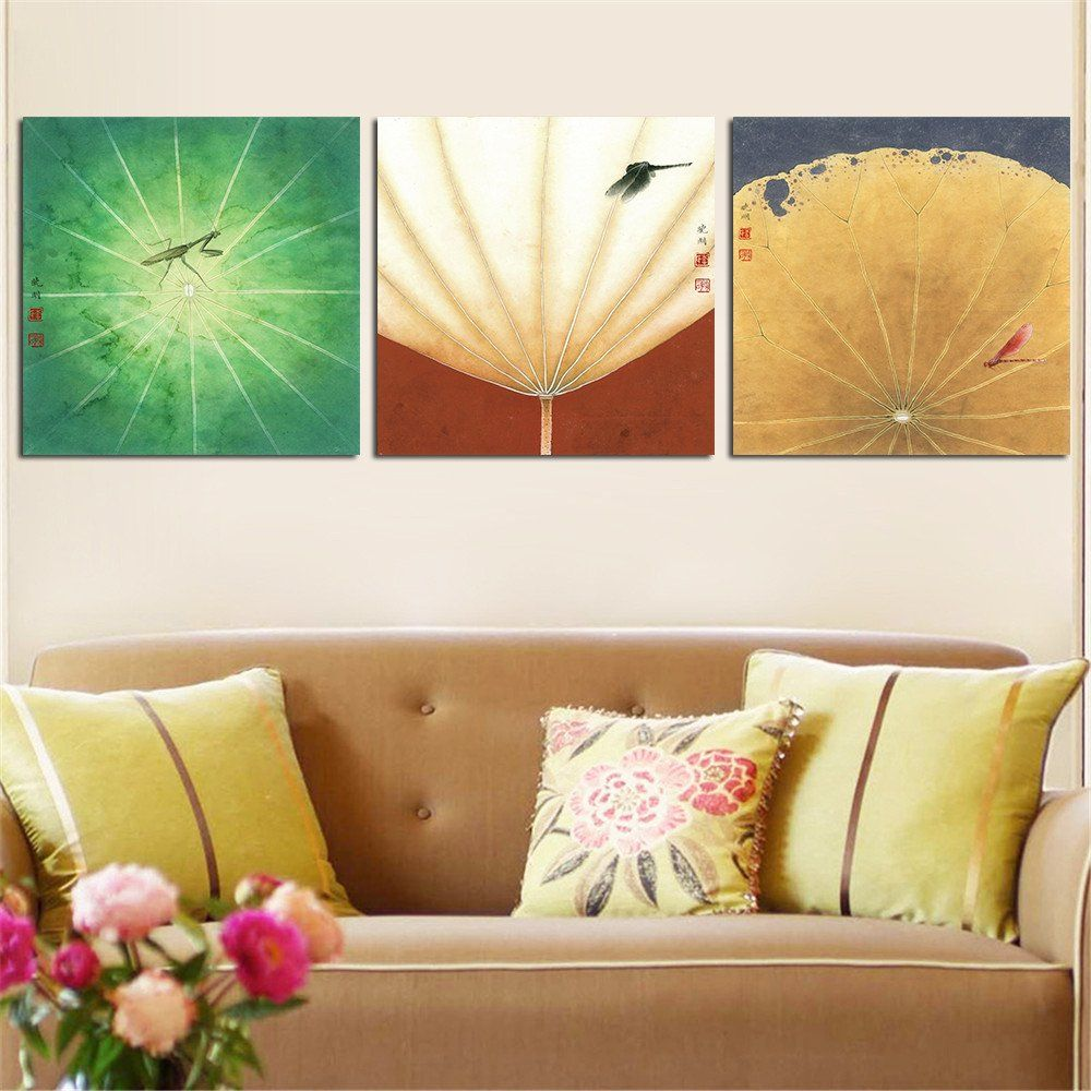 Paintings For Living Rooms Mordern Abstract Canvas Painting Lotus Oil Wall Picture For Living