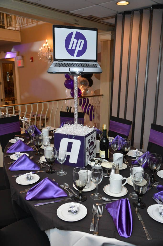 Technology Themed Centerpiece Technology Themed Centerpiece with