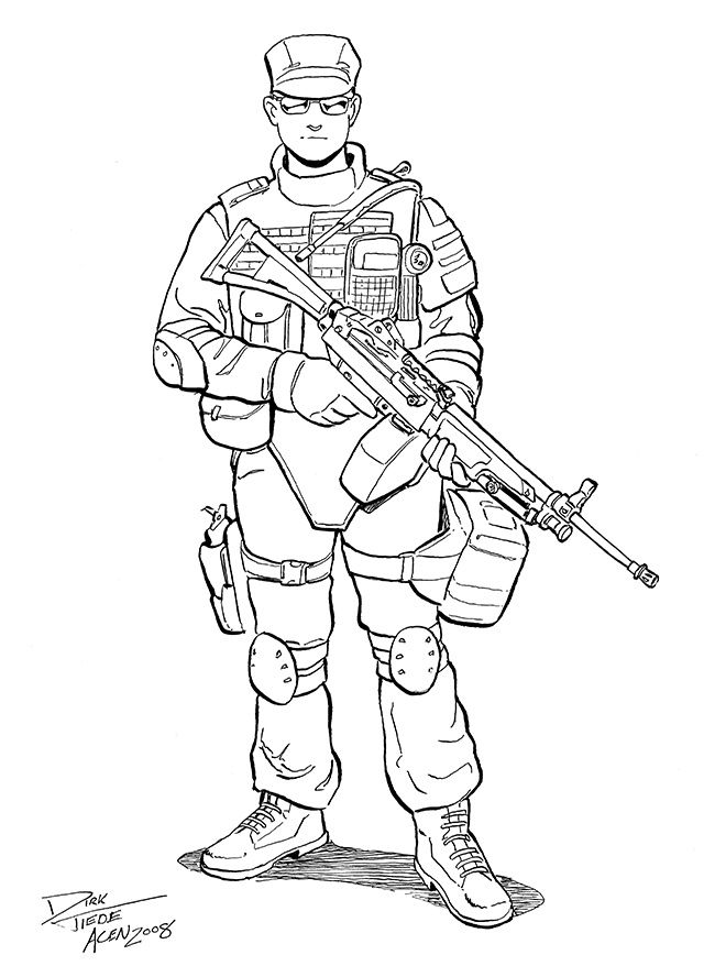 Swat Guy Coloring Page Printable