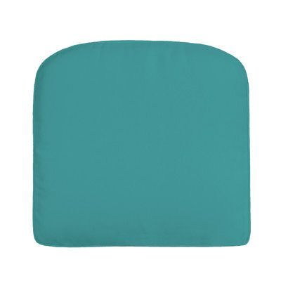 Wayfair Custom Outdoor Cushions Double Piped Sunbrella Dining Chair Cushion Fabric Canvas Aruba