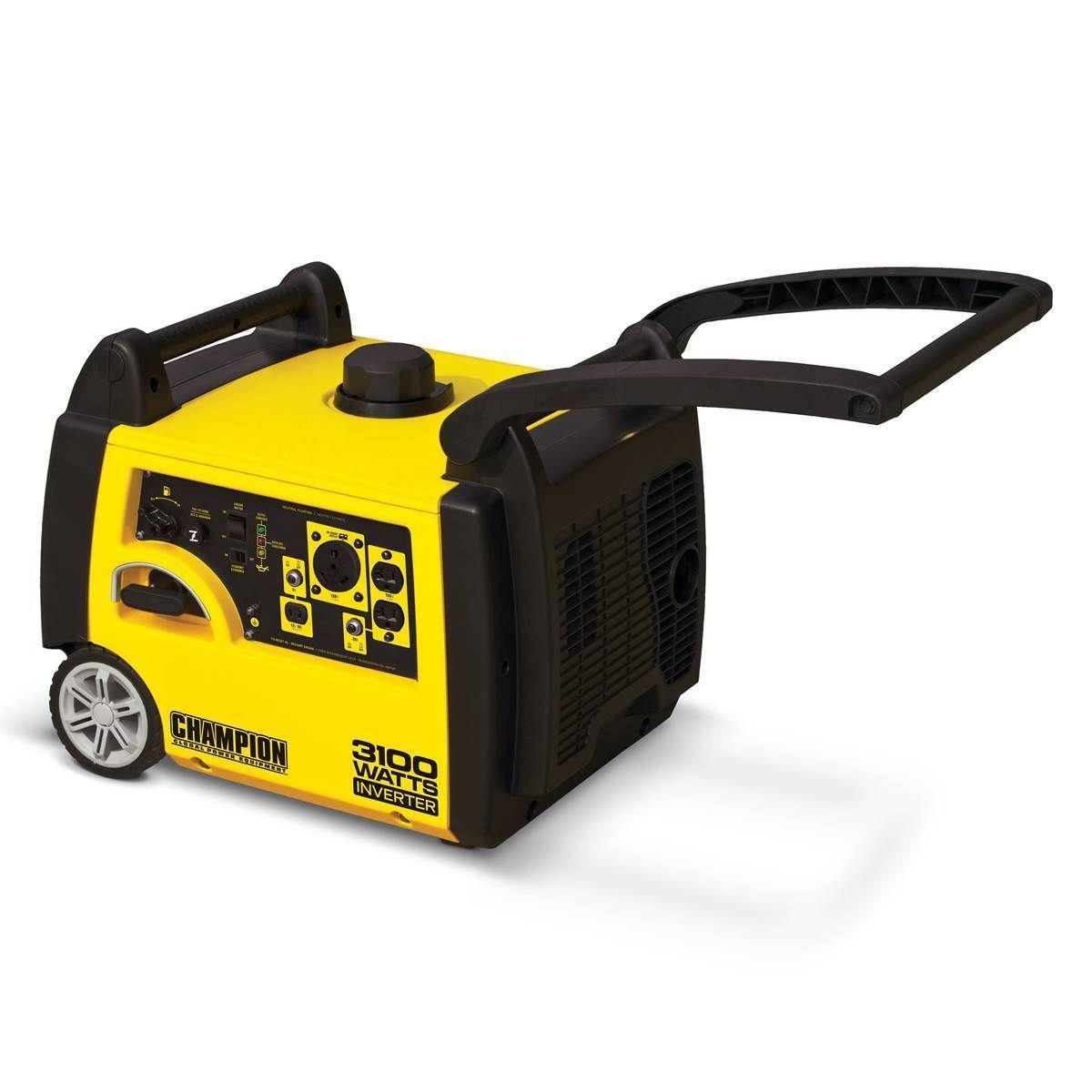 portable inverter generator 3100 watt 4 cycle 24 hp 171cc champion engine rv em ebay