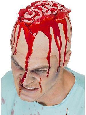 Open #brain head cap latex #flesh coloured gory #scary halloween - scary halloween ideas
