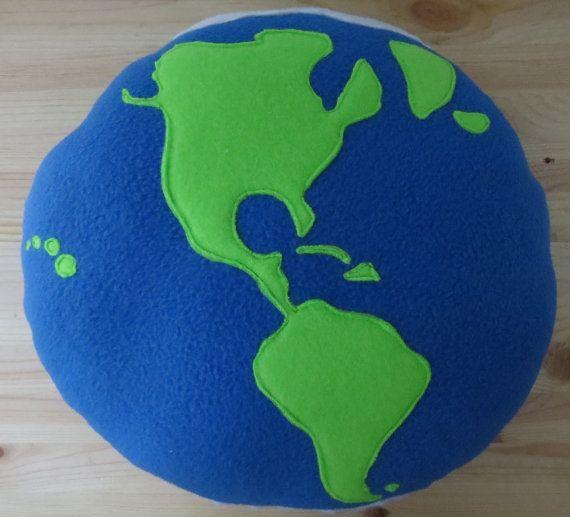 globe pillow for baby boy nursery
