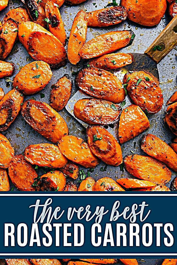 These delicious roasted carrots make the perfect side dish to just about any meal.