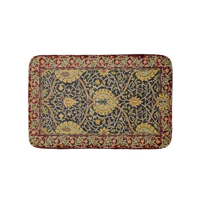 William Morris Persian Carpet Art Print Design Bath Mat #william #morris #vintage #pattern #antique #BathMat