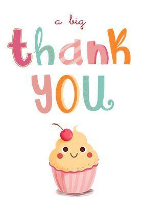 A Big Thank You Printable Card Customize Add Text And Photos