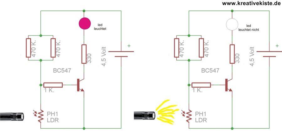 Netzwerkkabel Selber Machen : 17 transistor grundschaltungen dunkelschaltung photodiode in 2019 elektroinstallation selber ~ Watch28wear.com Haus und Dekorationen