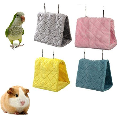 L Size Bird Hamster Hanging Bed Cage Hammock Tent Bed Bunk Parrot Toy ***  sc 1 st  Pinterest & L Size Bird Hamster Hanging Bed Cage Hammock Tent Bed Bunk Parrot ...