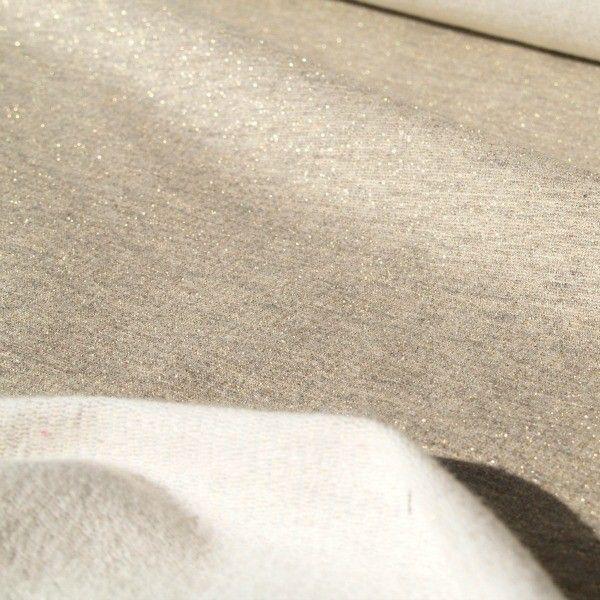 Tessuto felpa lurex Creamy