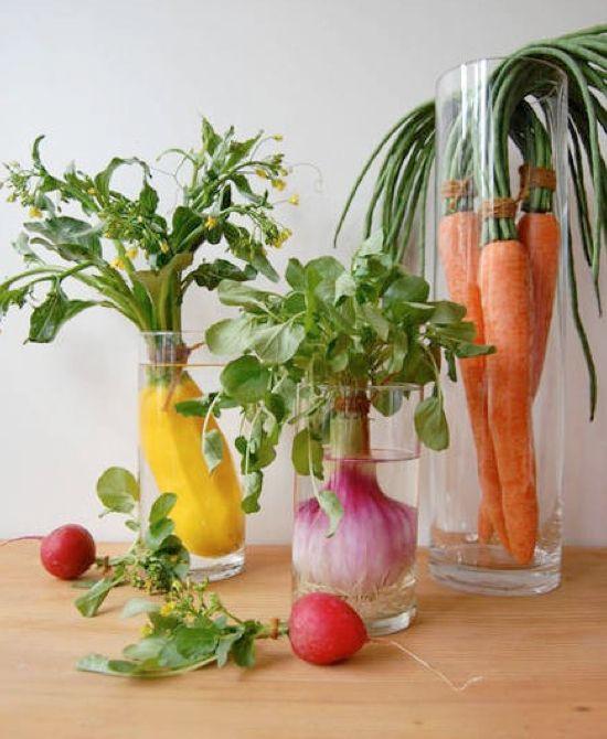 Vegetable centerpiece ideas — wedding