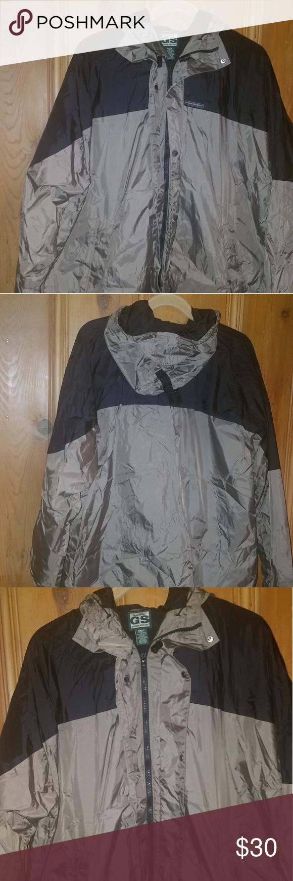 d0a0ec9c448db Guide series waterproof jacket Men's Gander mountain guide series  waterproof zip and snap nylon jacket. 3XLT Guide series Jackets & Coats  Windbreakers