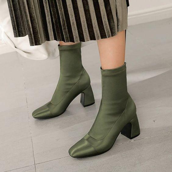 Chiko Darrel Satin Sock Ankle Boots Kick Ons Sock