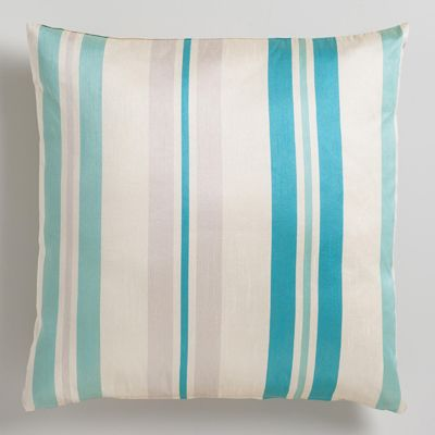 Blue Victoria Stripe Throw Pillow