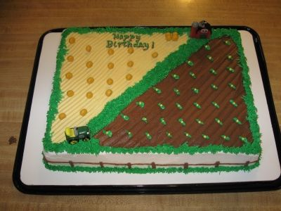 Farm theme birthday cake By luv2hoop on CakeCentral.com