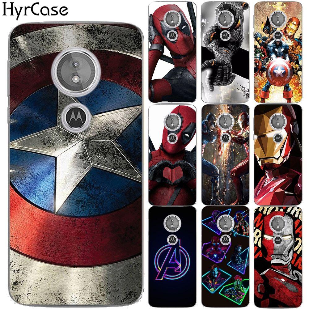 caa9031ca Spider Iron Man Super Heros Soft TPU Case For Motorola Moto E5 E (5th Gen.)  Avengers Silicon Back Cover For Coque Moto G6 Play(China)