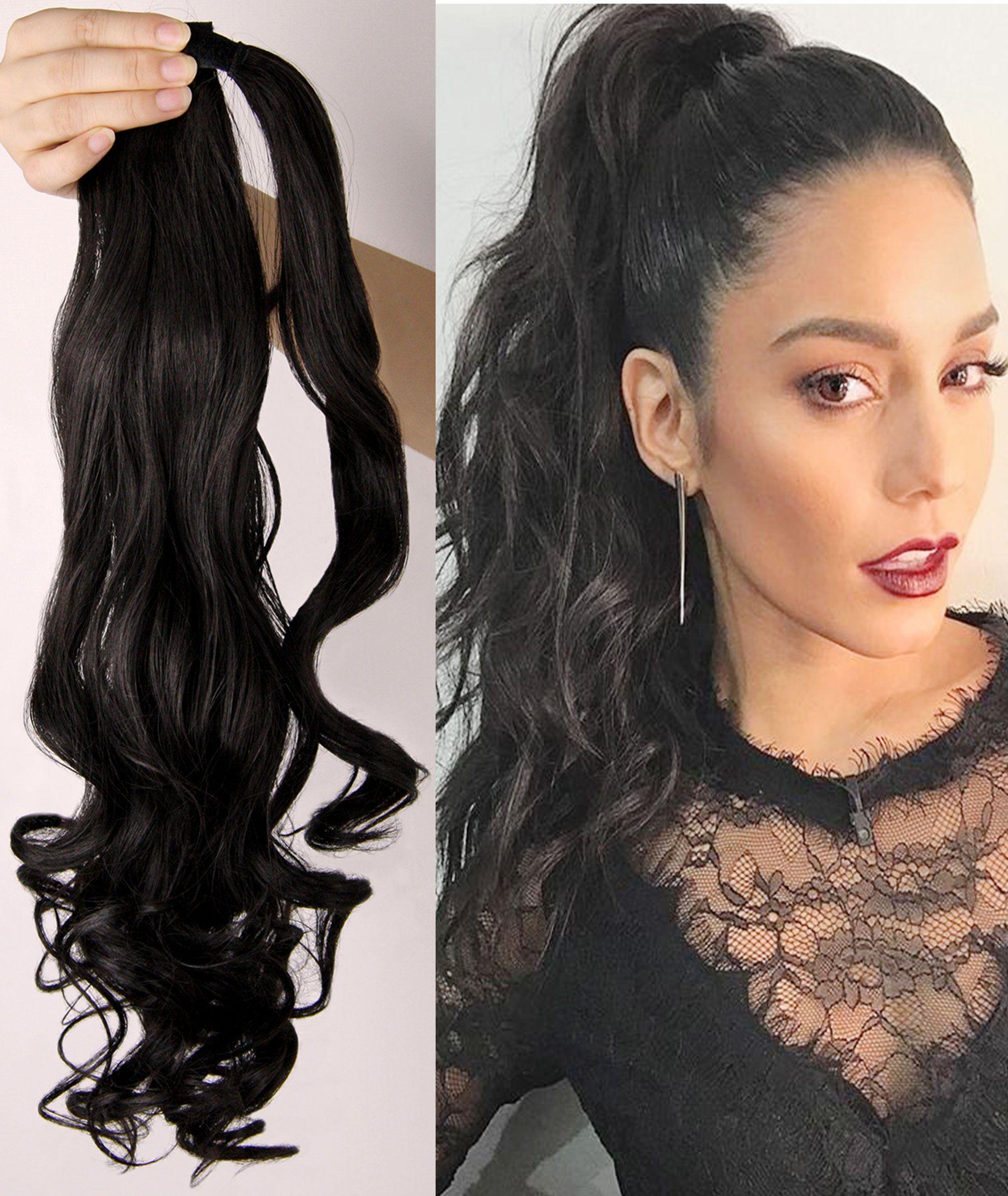 Rhyme Super Light Wrap Around Ponytail Hair Extension Dark Brown
