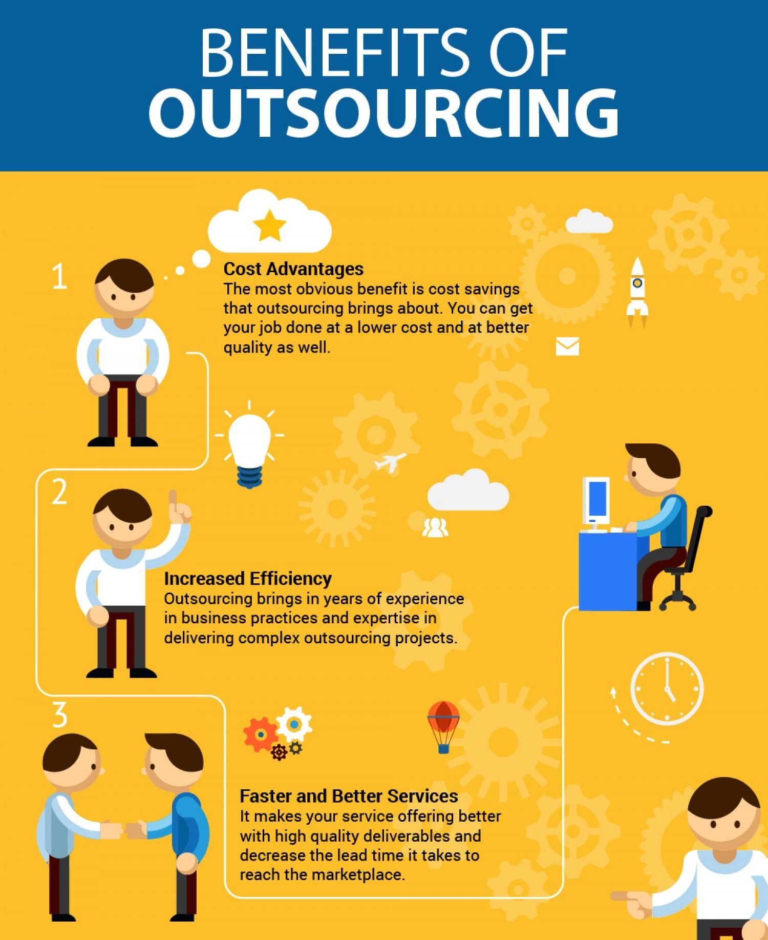 The benefits of outsourcing. In a handy infographic. because ...