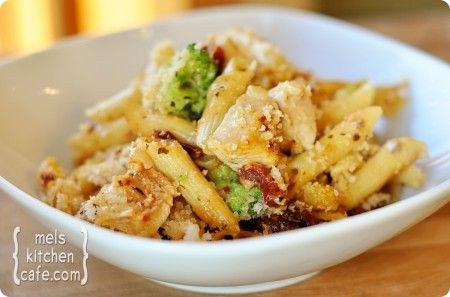 Baked Penne with Chicken, Broccoli & Mozzarella