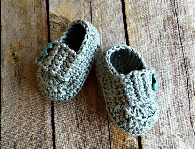 Baby Button Loafers - Free Crochet Pattern | Pinterest