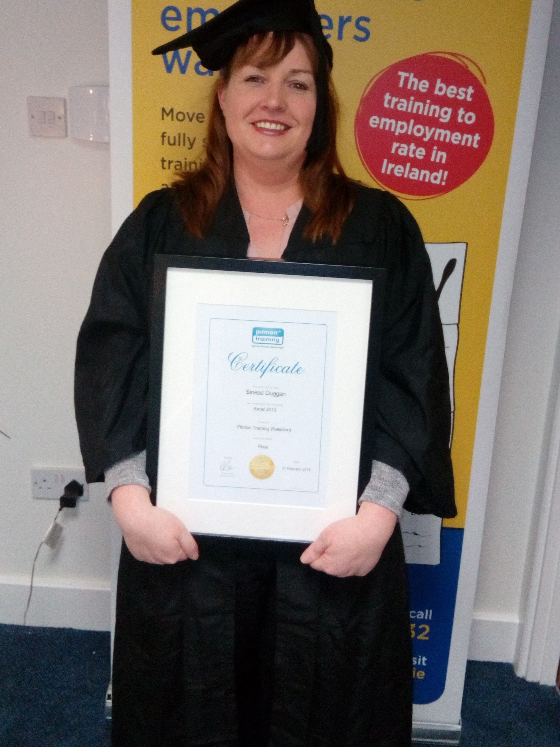 microsoft excel course graduate from pitman training in waterford
