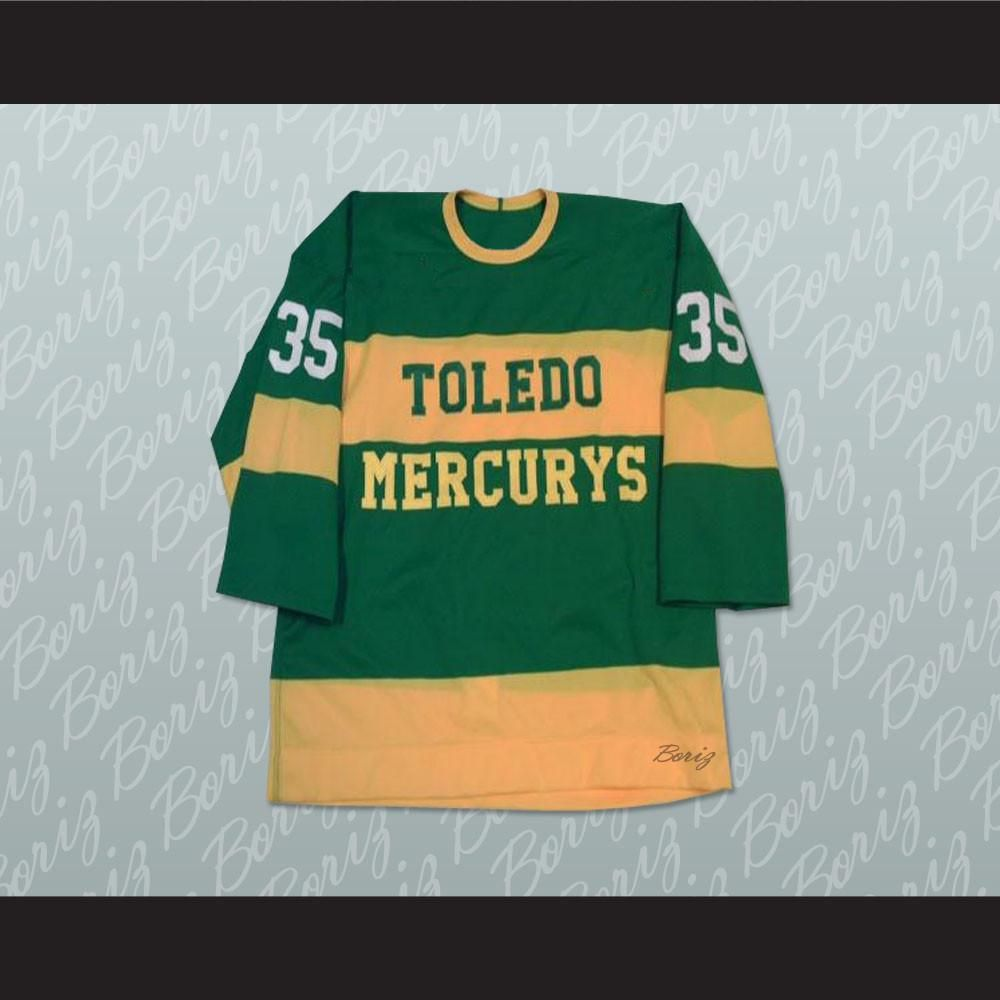 Toldeo Mercurys Pearce 35 Hockey Jersey Stitch Sewn New Any Size Or Player Shipping Time Is About 3 5 Weeks I Have Al Hockey Jersey Jersey Graphic Sweatshirt
