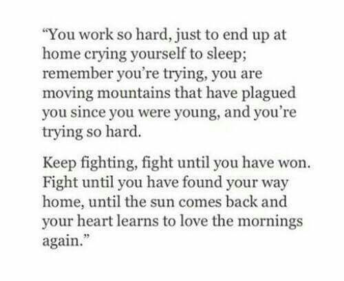 Keep Fighting Life Quote Strength